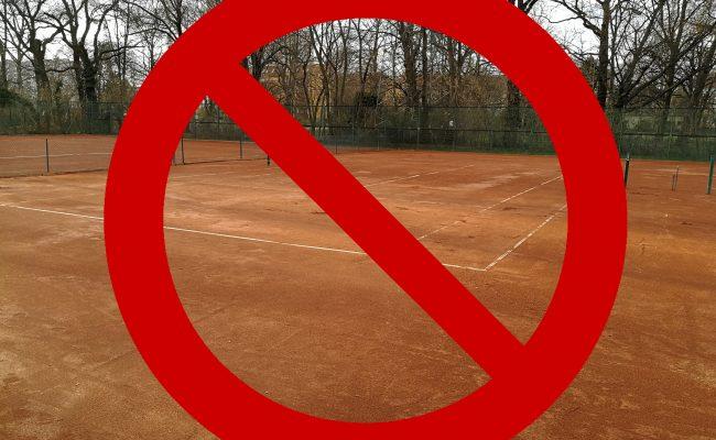 Einschränkungen Platnutzung – Tenniscamp und Nachholspiel D30