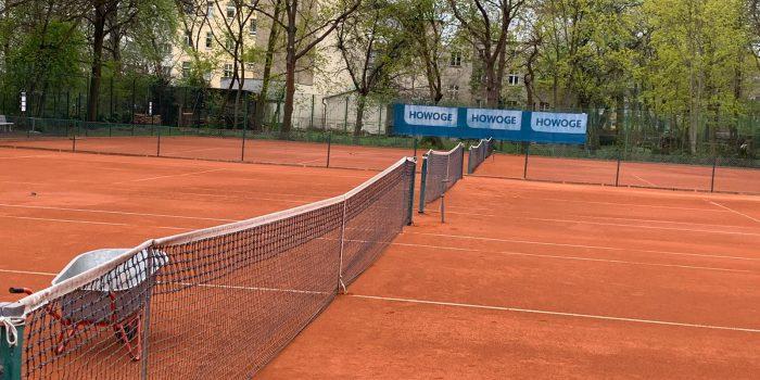 Tennisplätze Sommervorbereitungen