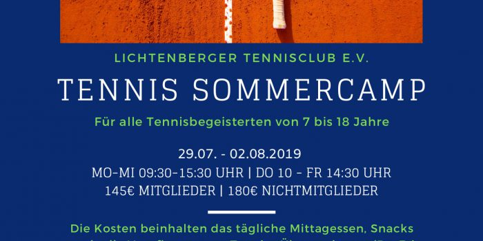 Tennis Sommercamp 2019