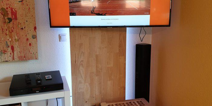 Umbau TV Wand abgeschlossen