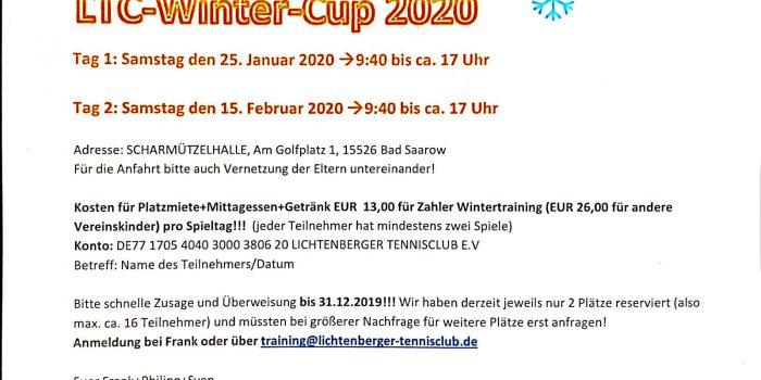 LTC Wintercup angesetzt