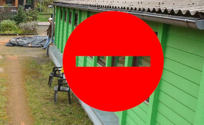 Clubhaus und Umkleiden/Duschen geschlossen